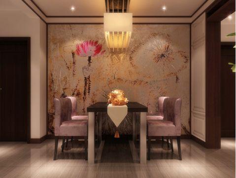 餐厅背景墙新中式风格装修图片