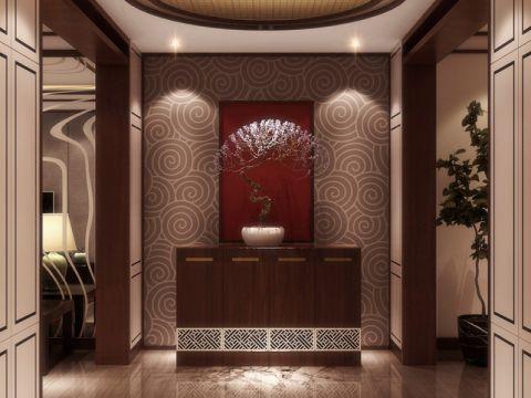 玄关背景墙新中式风格装饰设计图片