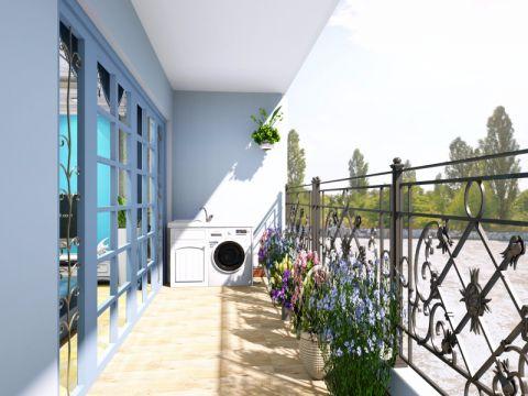 阳台推拉门地中海风格装修设计图片