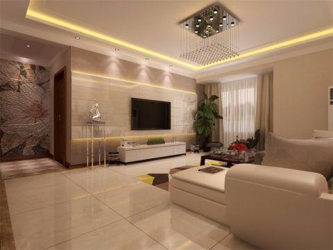 8万预算125平米三室两厅装修效果图