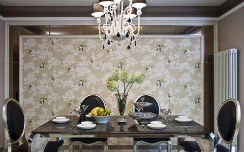 餐厅背景墙新古典风格装潢设计图片