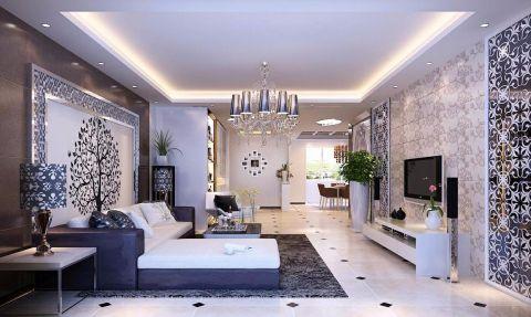 7万预算108平米三室两厅装修效果图