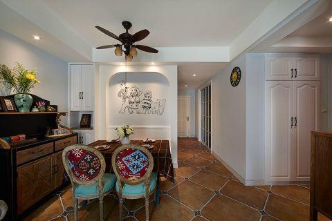 餐厅背景墙美式风格装饰设计图片