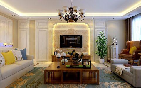 5.8万预算190平米四室两厅装修效果图