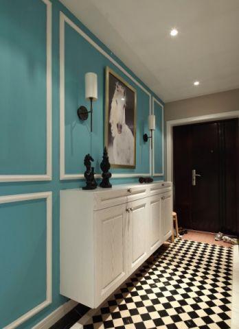 玄关背景墙混搭风格装饰图片