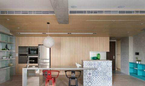 厨房厨房岛台现代简约风格效果图