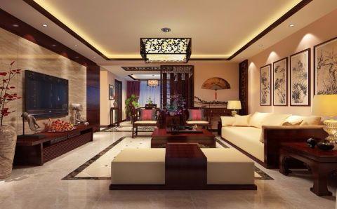 客厅中式风格装修效果图