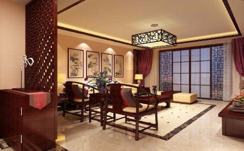 客厅隔断中式风格装修图片