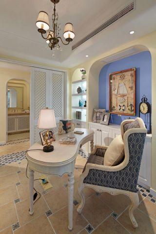 书房照片墙地中海风格装饰图片