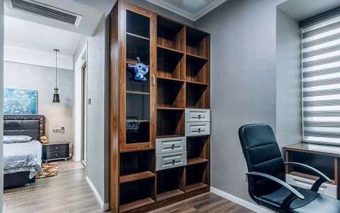 书房书架现代风格装修设计图片
