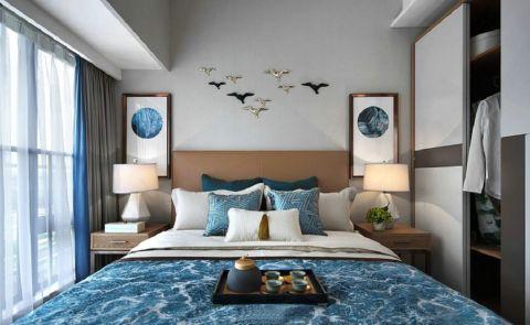卧室窗帘现代中式风格装修效果图