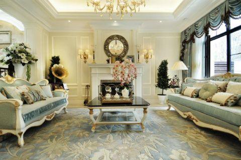 客厅窗帘欧式风格装潢效果图