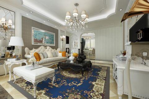 客厅照片墙欧式风格装修效果图