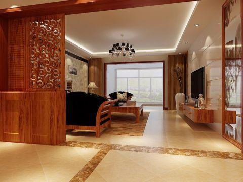 客厅隔断现代中式风格装潢图片