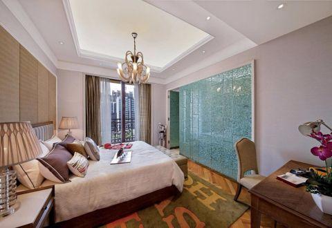 卧室窗帘现代中式风格装修设计图片