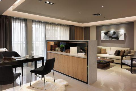 客厅隔断现代风格装潢图片