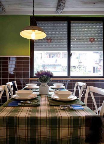 餐厅窗帘混搭风格装修效果图
