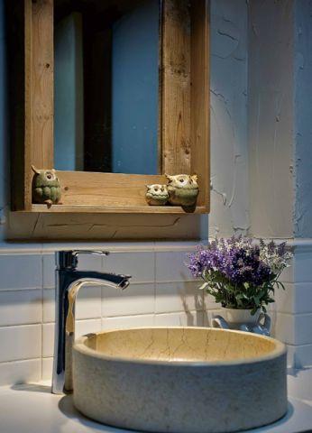 卫生间背景墙混搭风格装饰图片
