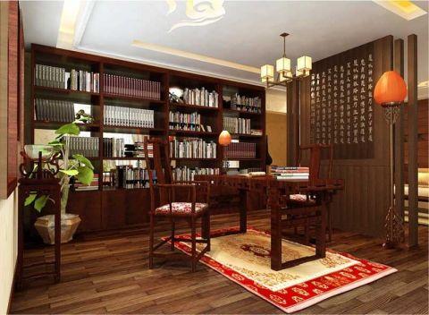 书房吊顶新中式风格装饰图片