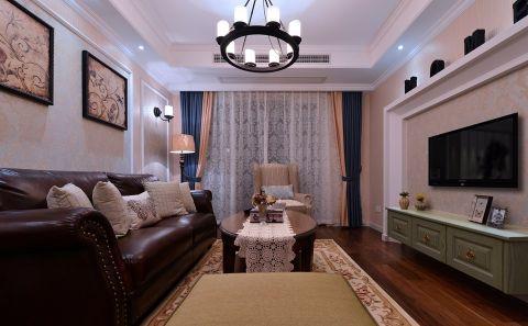 6.8万预算108平米三室两厅装修效果图