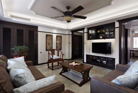 8.7万预算124平米两室两厅装修效果图
