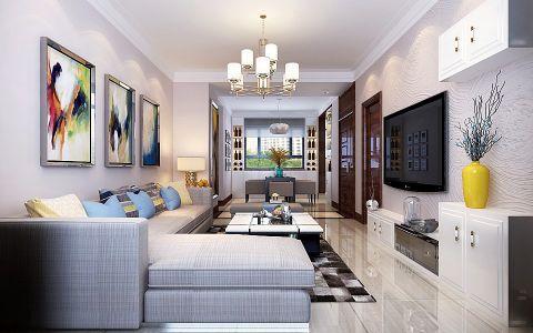 3.5万预算116平米三室两厅装修效果图