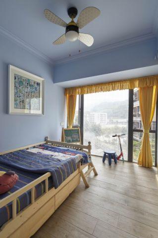 儿童房背景墙简约风格装潢图片