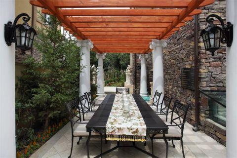 花园餐桌美式风格装饰设计图片