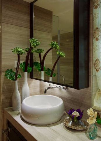卫生间洗漱台混搭风格装潢图片