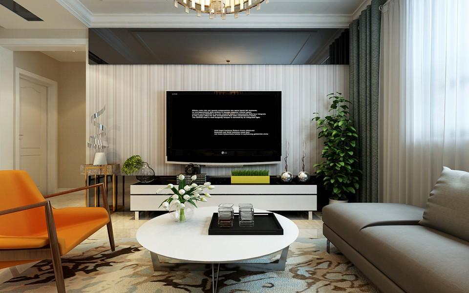 3室1卫2厅124平米现代简约风格