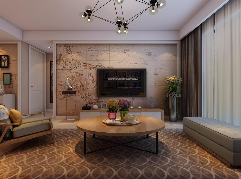 3室1卫1厅100平米现代简约风格