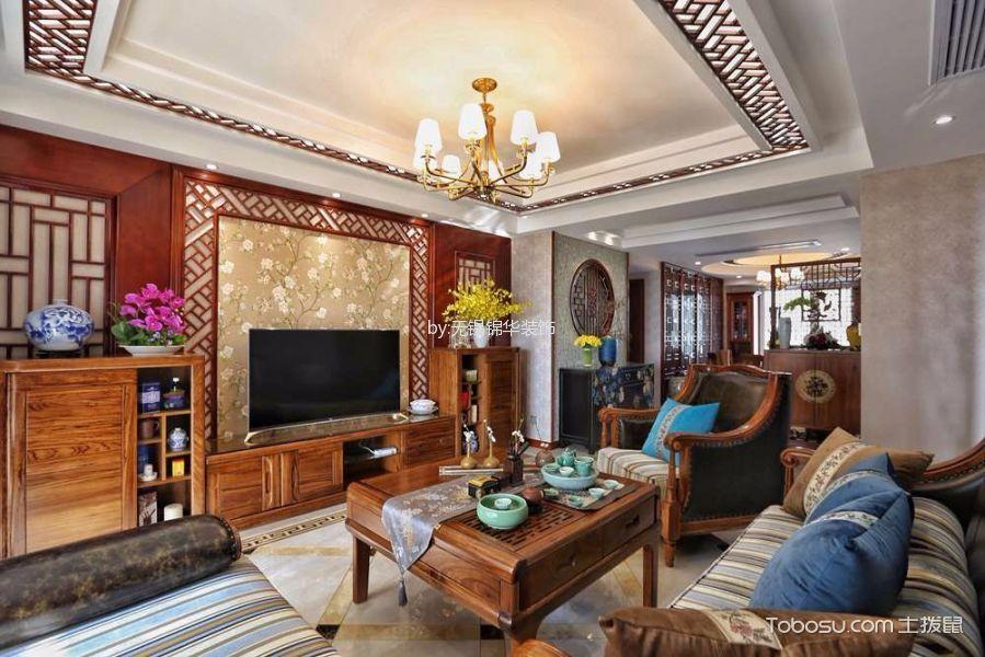 客厅 吊顶_19万预算140平米三室两厅装修效果图