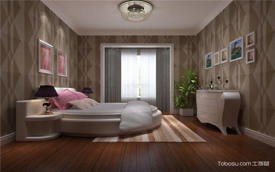 卧室彩色照片墙简欧风格装修图片