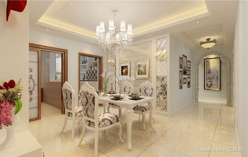 餐厅白色走廊欧式风格装潢图片
