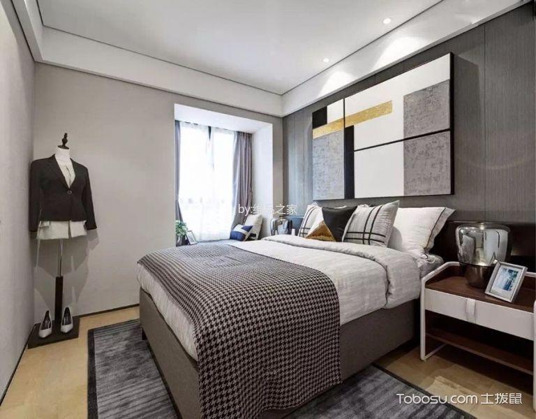 卧室白色吊顶现代简约风格装饰图片