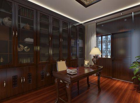 书房书桌新中式风格装潢图片