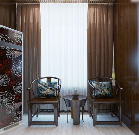 阳台窗帘新中式风格装饰设计图片