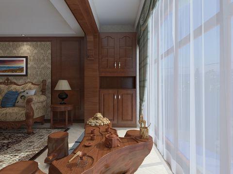 阳台窗帘美式风格装潢图片