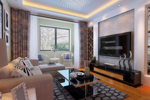 9.3万预算90平米两居室装修效果图