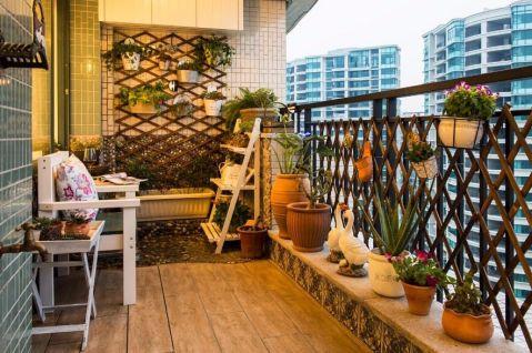 北欧金球公寓三居室地中海风格实景图