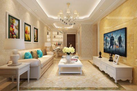 4.6万预算140平米三室两厅装修效果图