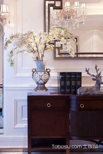 客厅白色细节美式风格装潢图片