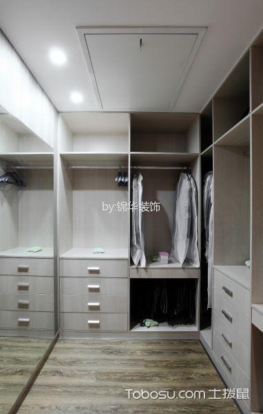 衣帽间白色衣柜现代风格装饰图片