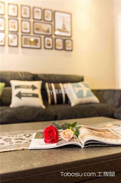 客厅黄色细节现代简约风格装潢设计图片