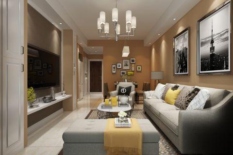 3.2万预算70平米两室两厅装修效果图