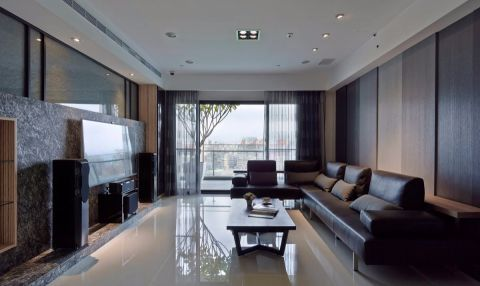 9.8万预算120平米三室两厅装修效果图