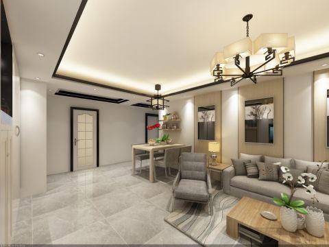 11万预算110平米一居室装修效果图