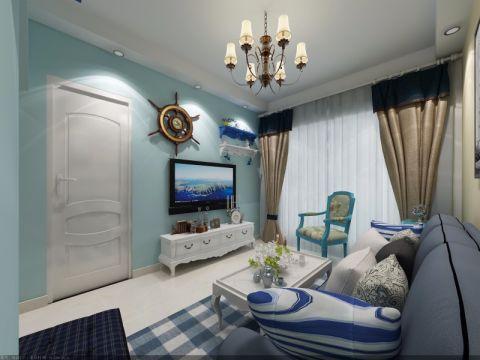 6万预算90平米一居室装修效果图