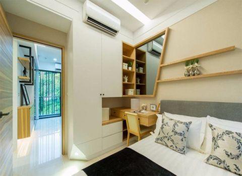 卧室背景墙简单风格装修效果图