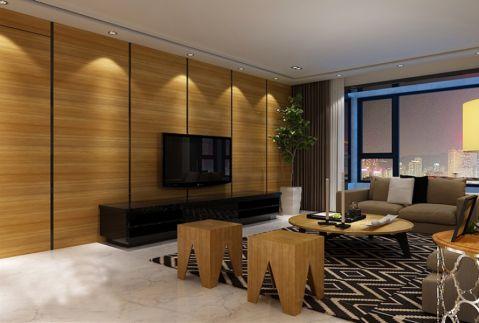 20万预算190平米三室两厅装修效果图